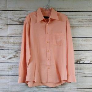 Bugatchi Textured Button Down Shirt Size Large